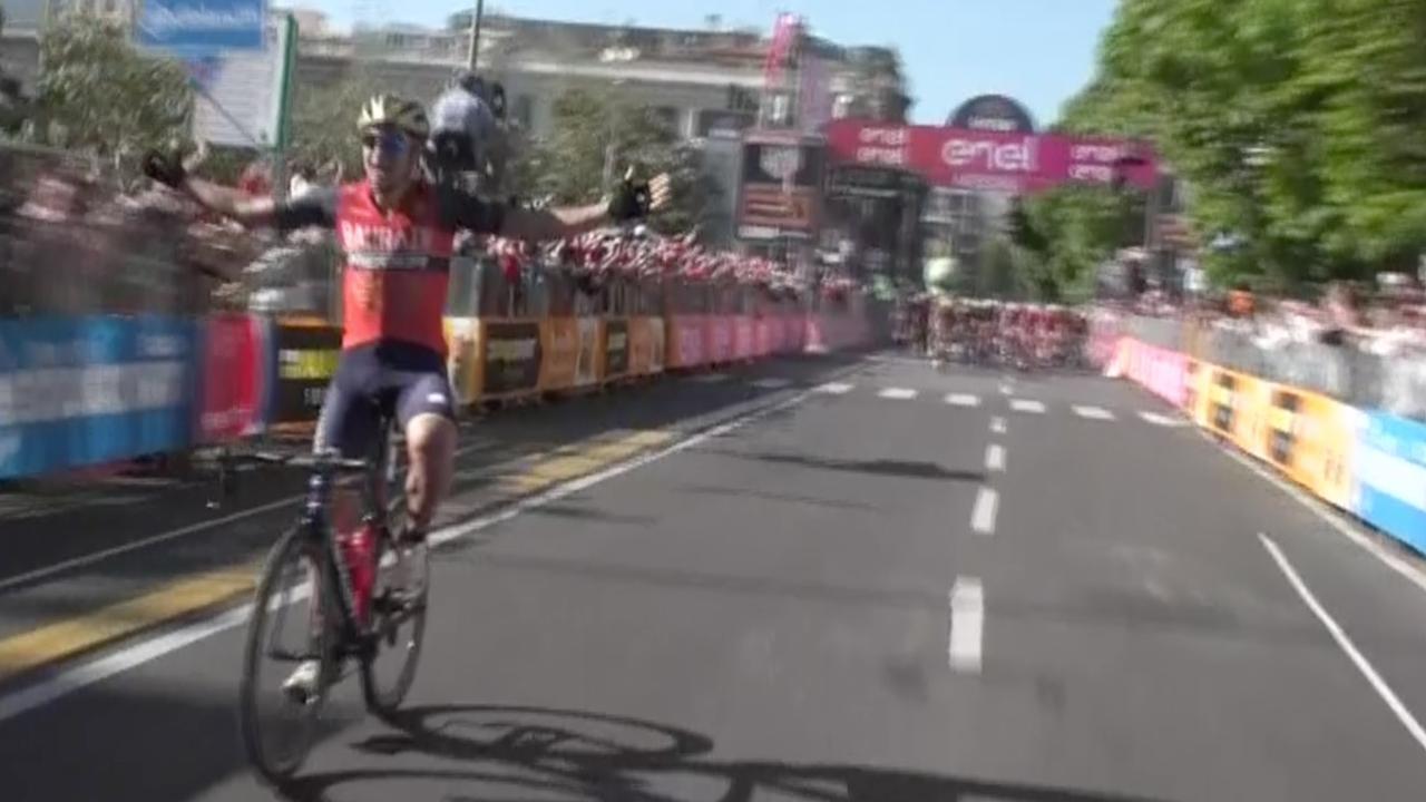 Pibernik denkt Giro-etappe gewonnen te hebben, maar moet nog een ronde