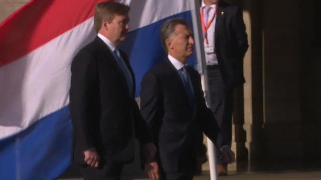 Koning Willem-Alexander ontvangt Argentijnse president