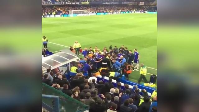 Hiddink valt bij opstootje na Chelsea-Tottenham