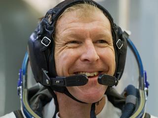 Peake rende op loopband in ruimtestation ISS