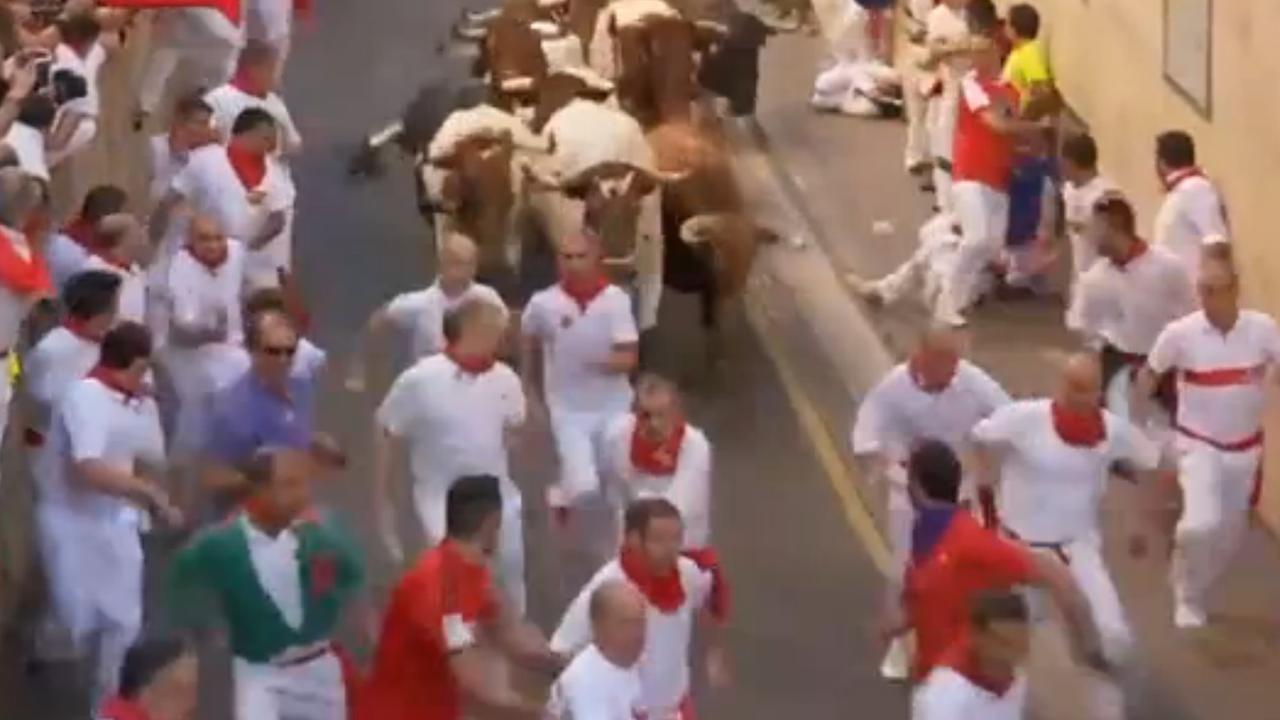 Zes gewonden op tweede dag stierenrennen Pamplona
