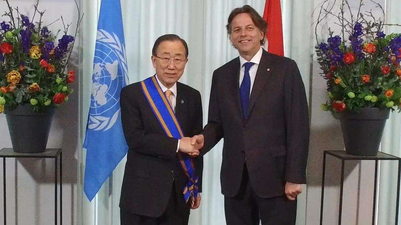 Belangrijke Nederlandse onderscheiding voor Ban Ki-moon