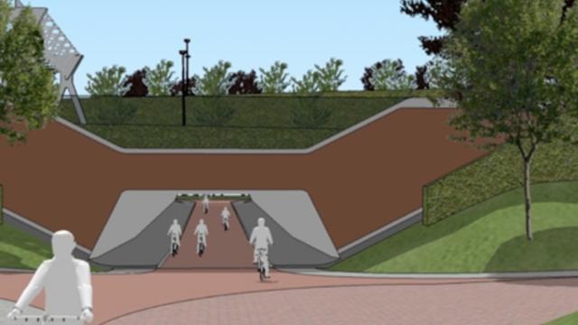 De fietstunnel bij de Papiermolen in Groningen komt toch