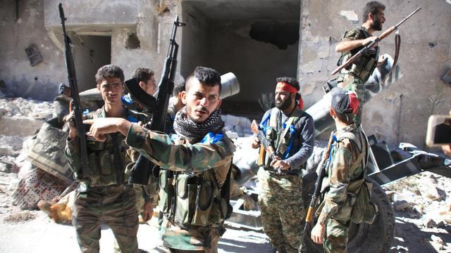 Regeringsleger Syrië rukt op in Aleppo