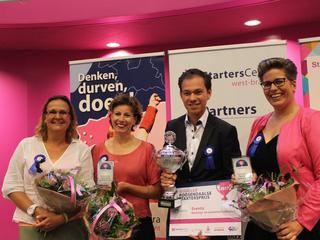 Prijs uitgereikt op Startersdag in Kellebeek College