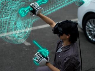 Handschoenen geven weerstand aan virtuele objecten