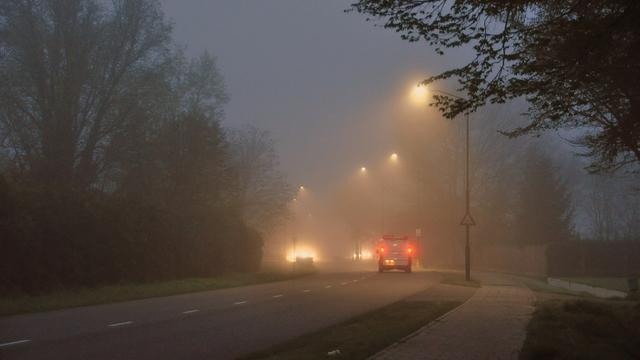 Dichte mist in zuidelijke provincies tijdens de ochtendspits
