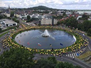 Betogers wijzen op gevaren van centrale in België