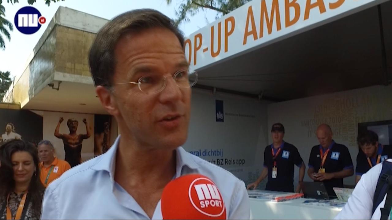 Rutte denkt dat Nederland medaillerecord kan verbreken in Rio