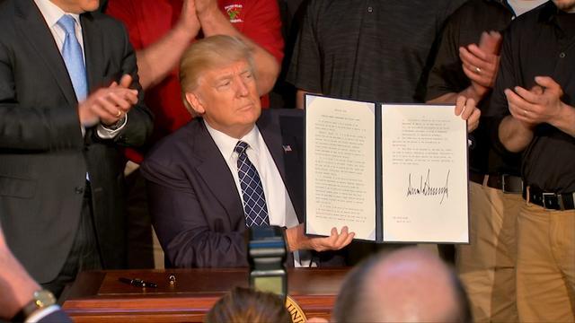 Trump annuleert Obama's klimaatregels middels decreet