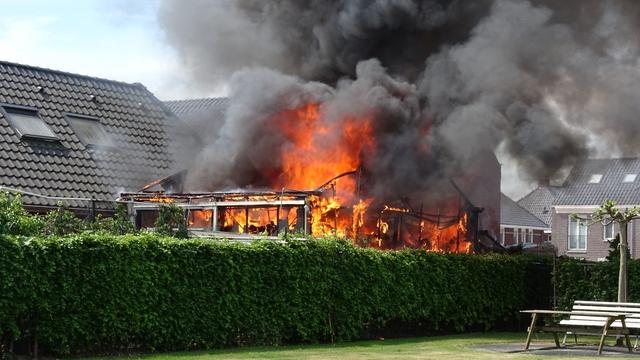 Tuinkas achter woning vat vlam in Etten-Leur