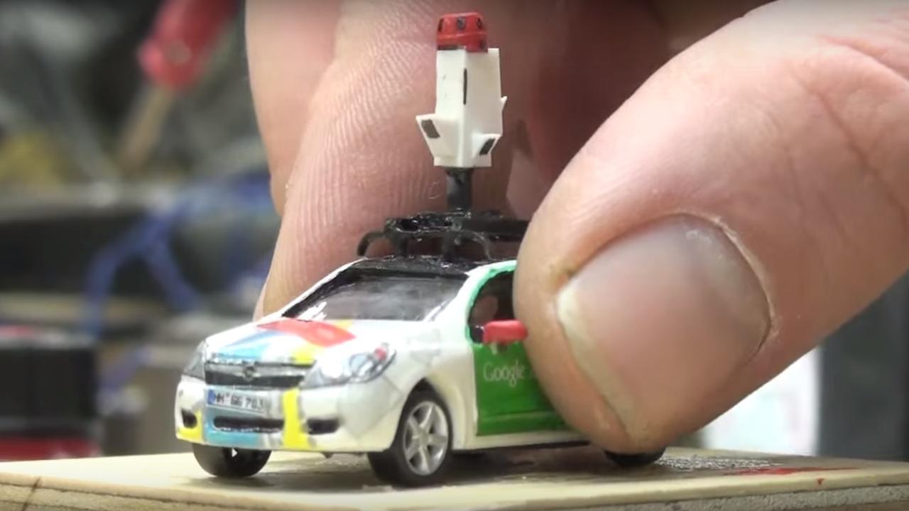 Google gebruikt piepkleine auto en camera's in Duitse 'Madurodam'