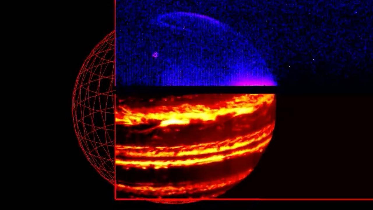 Ruimtesonde Juno toont gigantische stormen op polen Jupiter