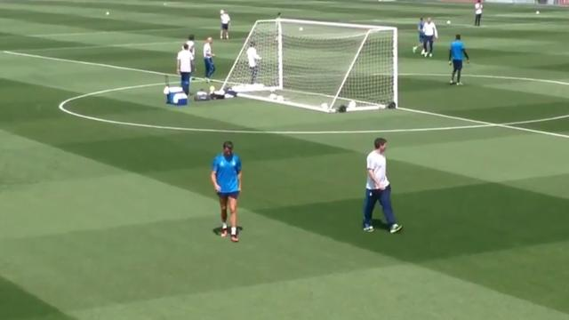 Ronaldo verlaat training Real Madrid vroegtijdig