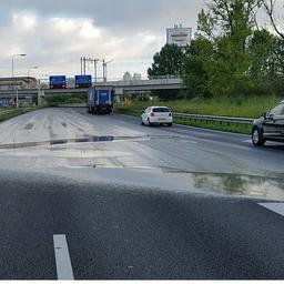 A2 richting A10 zeker tot donderdagochtend afgesloten