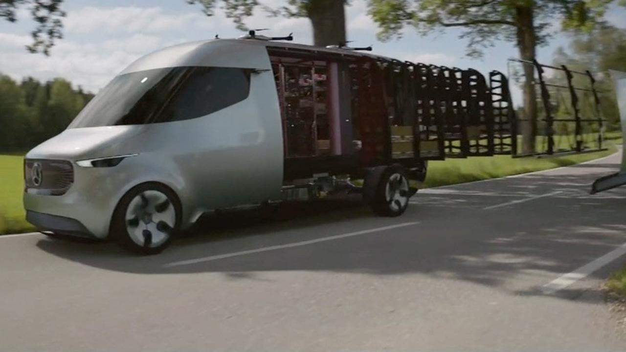 Mercedes maakt busje voor automatische bezorgdrones