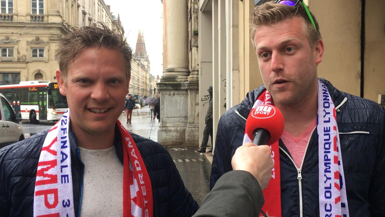 Ajax-fans in Lyon vol vertrouwen over afloop halve finale