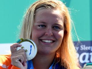 23-jarige Nederlandse komt in Boedapest net tekort voor wereldtitel