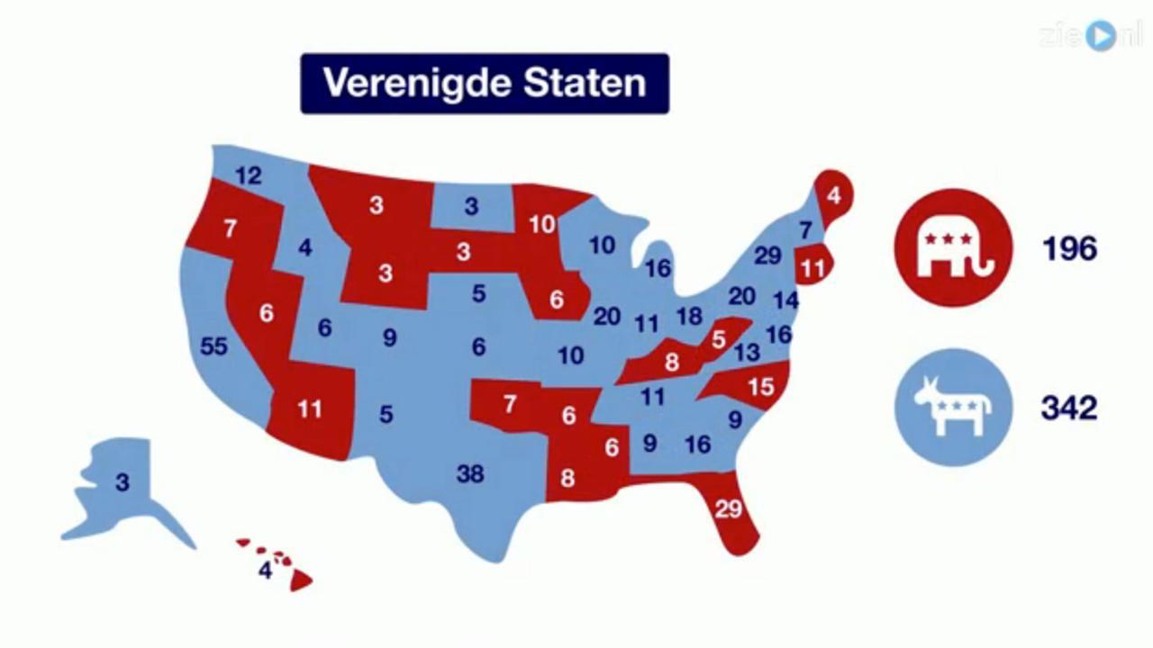 Zo zitten de Amerikaanse verkiezingen in elkaar