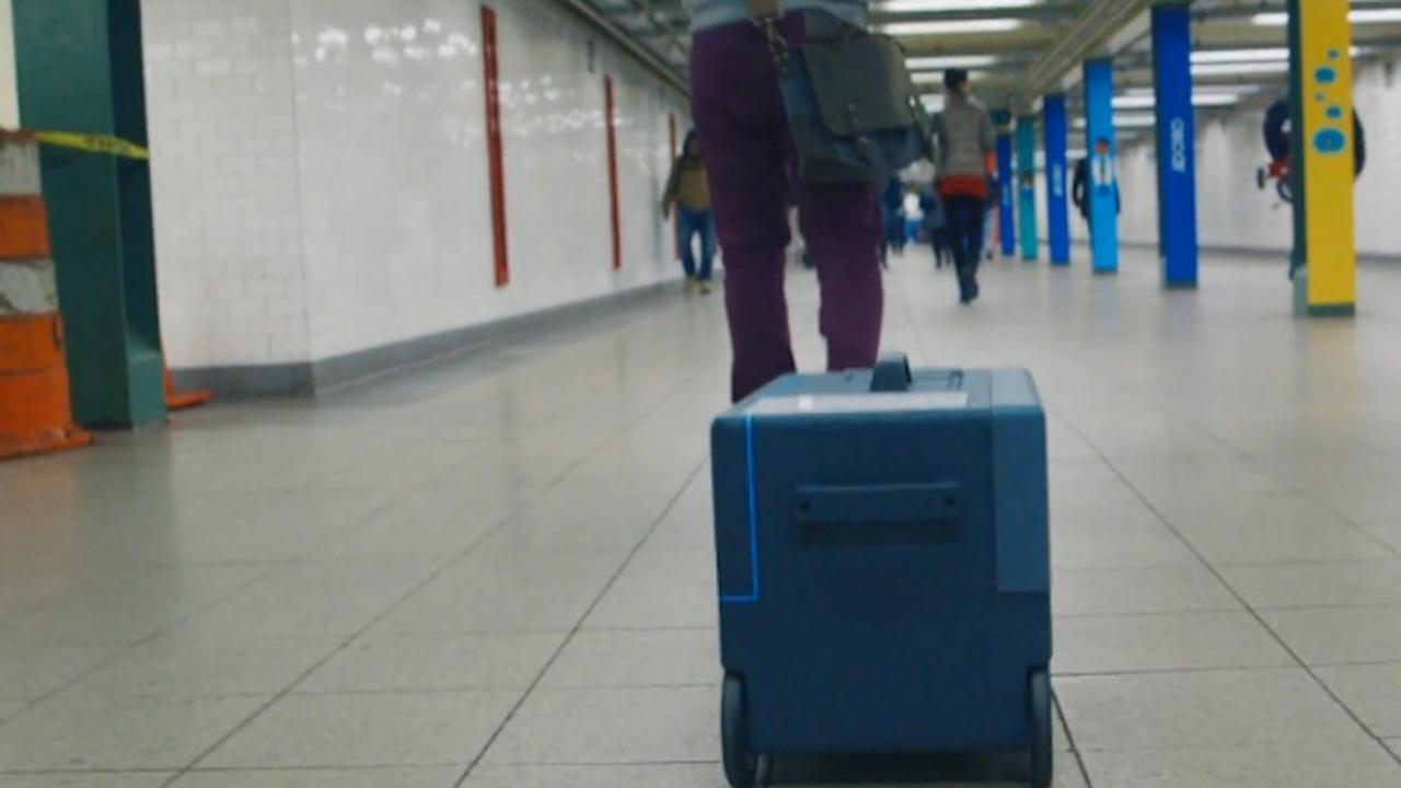 Robotkoffer volgt eigenaar via smartphone