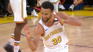 Stephen Curry geeft fraaie behind the back-assist bij rentree