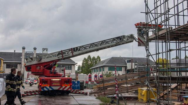 Bouwvakker gewond door ingestorte muur bij bouwplaats Utrecht