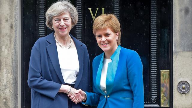 Britse premier May wil met Schotland samenwerken in proces Brexit