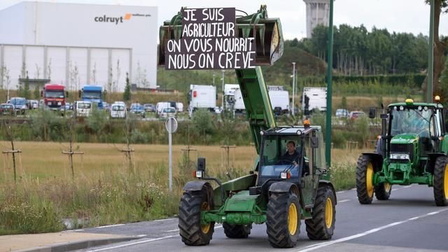 Eerste blokkade van Belgische boeren op snelweg