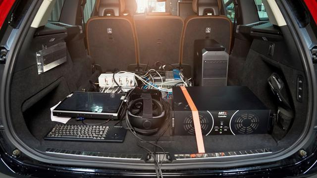De invloed van geluid op de passagiers wordt niet alleen getest in het laboratorium, maar ook op de weg.