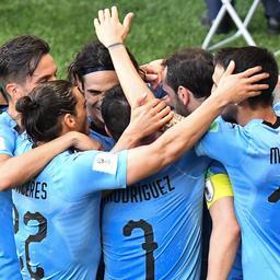 Uruguay klopt Saoedi-Arabië en gaat samen met Rusland door op WK