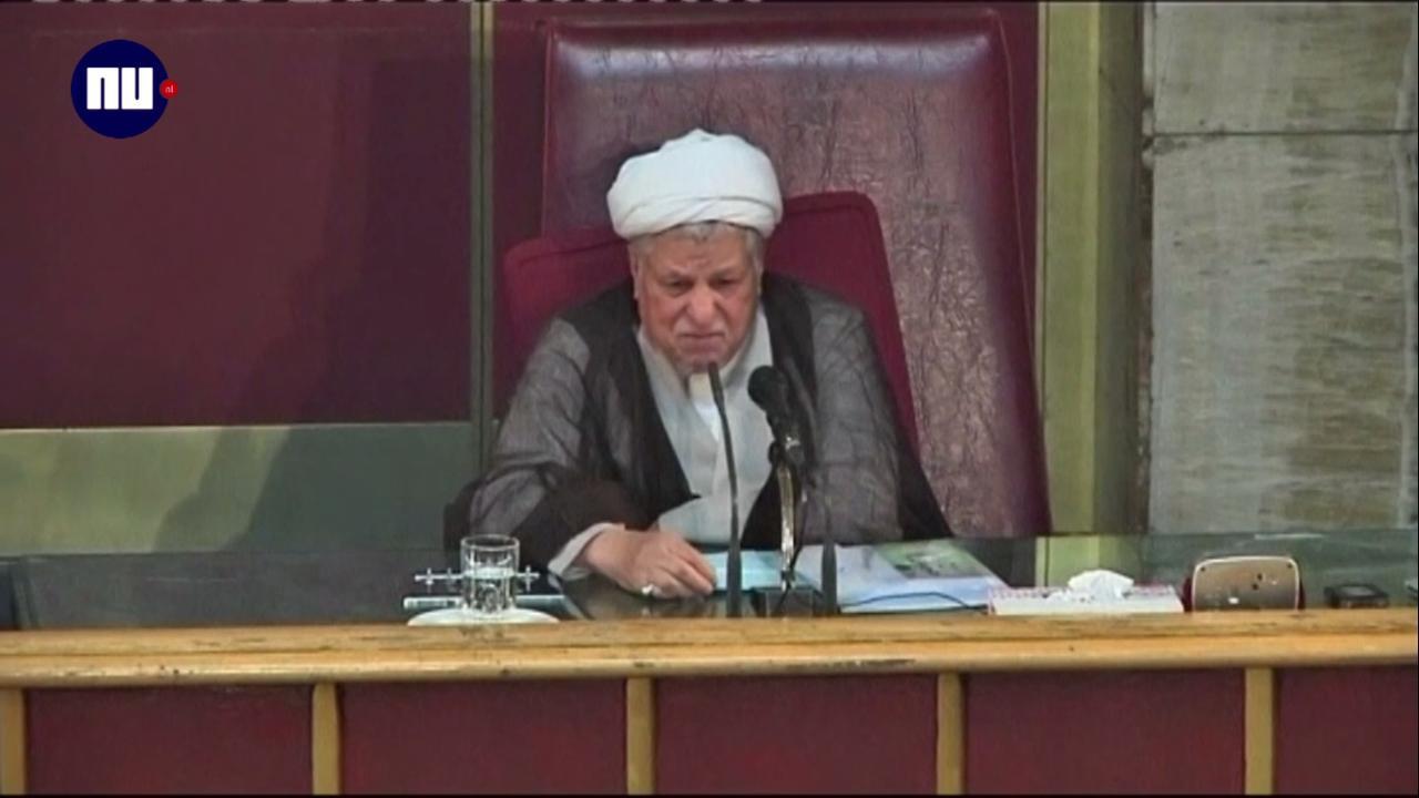 Hervormingsgezinde oud-president Iran aan hartaanval overleden