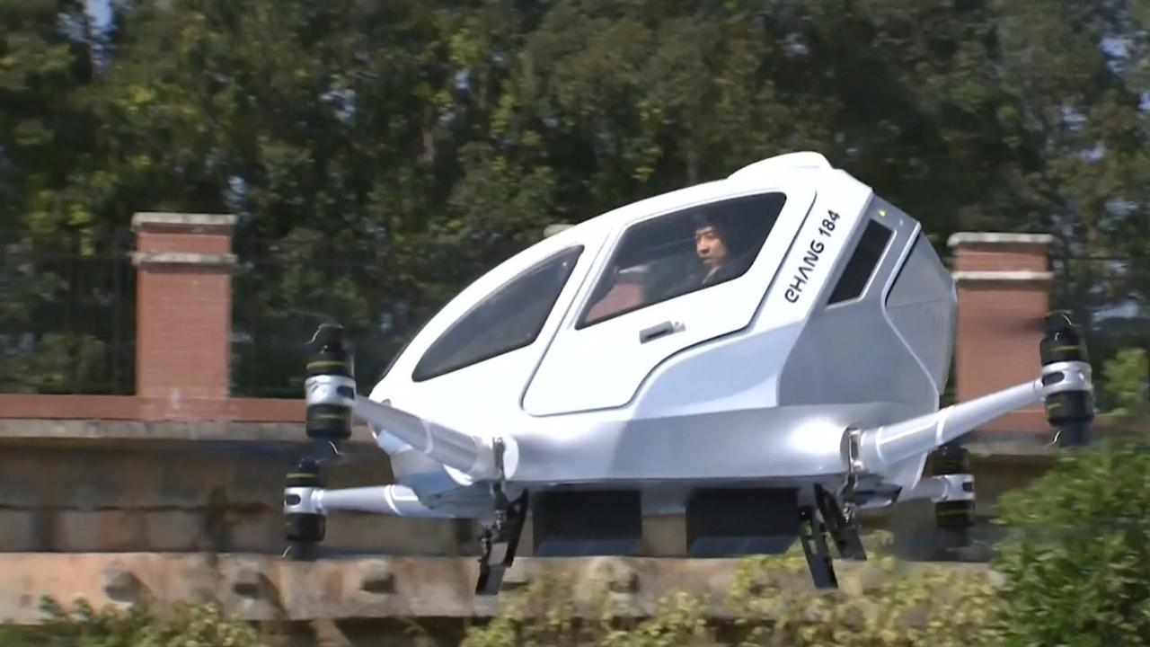 China test eerste taxi-drone ooit met succes