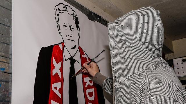 Graffiti-kunstwerk voor zieke Van der Laan wint streetart-prijs