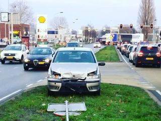 Eén van betrokkenen verliet plaats ongeval na botsing