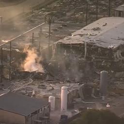 Bewakingscamera filmt verwoestende explosie in Houston