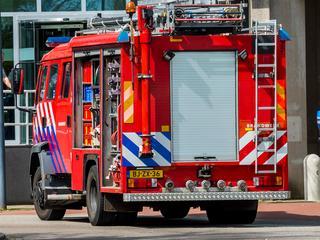 Brandweer is aan het blussen