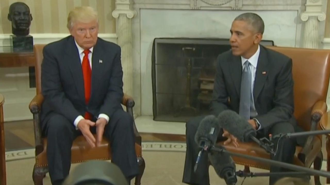 Obama noemt eerste ontmoeting met Trump 'bemoedigend'