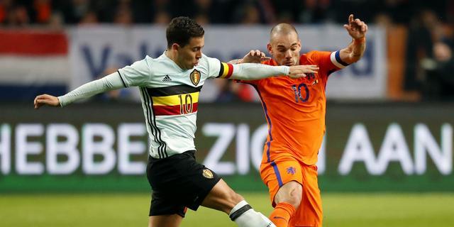 Sneijder treurt over late tegentreffer van België