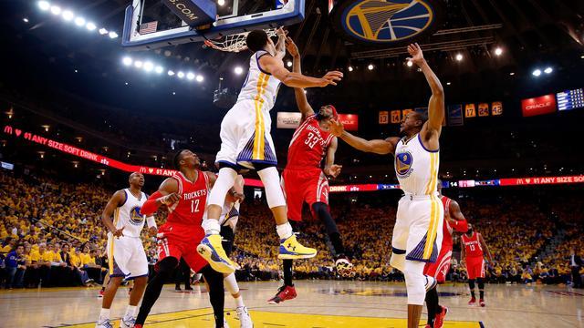 Warriors op 2-0 tegen Rockets in finale Western Conference