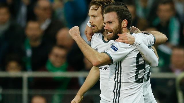 Blind met United verder in Europa League, Van Persie en Lens uitgeschakeld