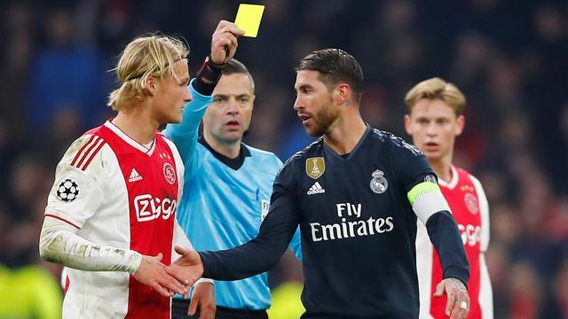 Real Madrid-aanvoerder Ramos noemt gele kaart tegen Ajax grote fout