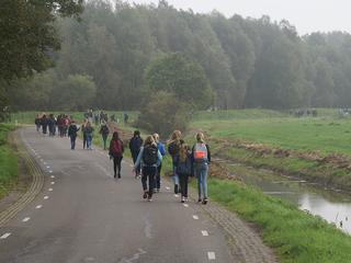 Leerlingen hielden gesponsorde wandeltocht