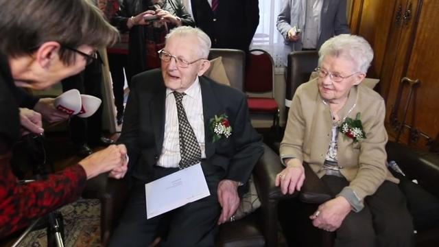 Echtpaar uit Drenthe viert 80-jarig huwelijk