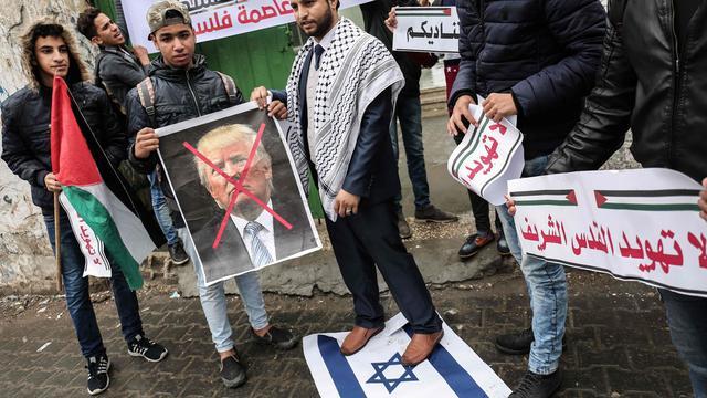 Aantal partijen in Tweede Kamer achter Jeruzalem-besluit Trump