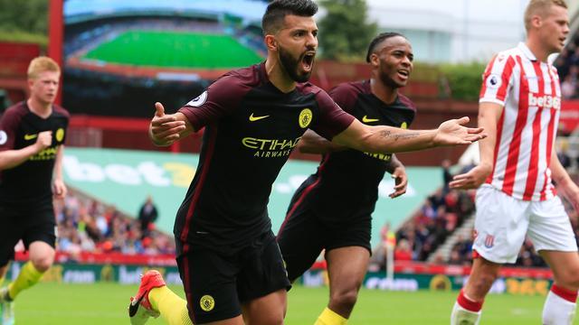 Manchester City boekt eenvoudige overwinning op Stoke City