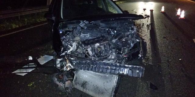 Veel schade na in slaap vallende automobilist op N11