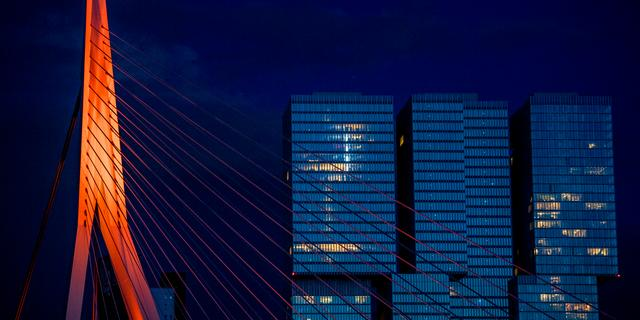 Verlichting van Erasmusbrug in Rotterdam kon door hackers worden aangepast