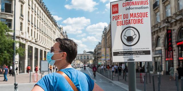 Frankrijk meldt nieuw dagrecord van bijna 10.000 coronabesmettingen