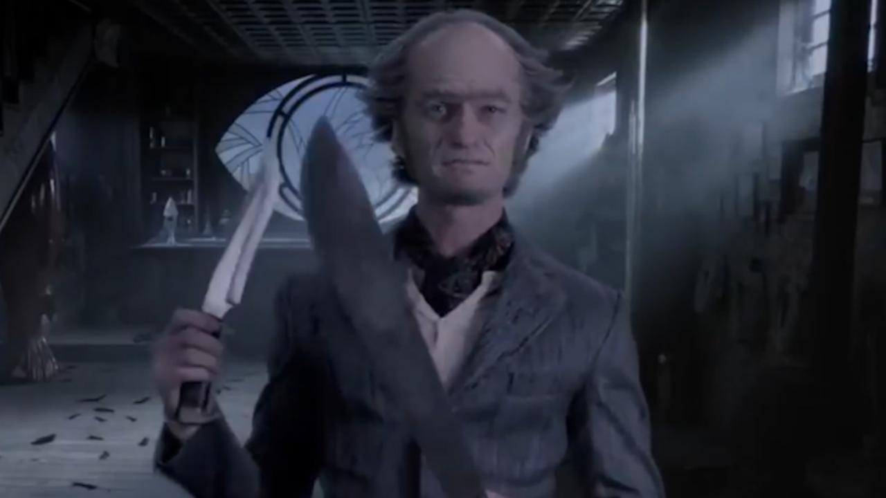 Neil Patrick Harris zwaait met mes in A Series of Unfortunate Events 2