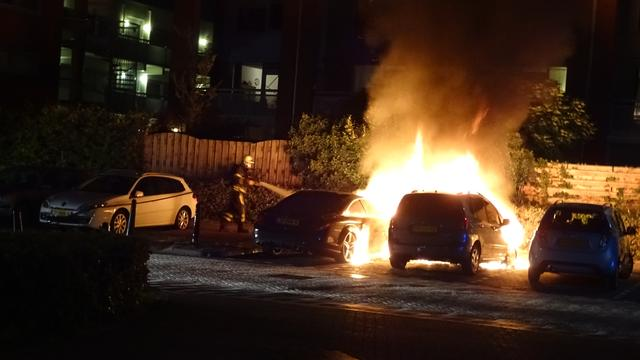Twee auto's afgebrand in Etten-Leur
